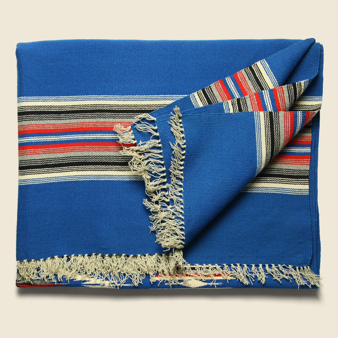 Chimayan Textile - Blue/Cream