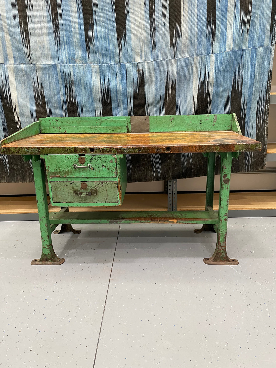 Warehouse Sale A14 - Green Wood Work Bench