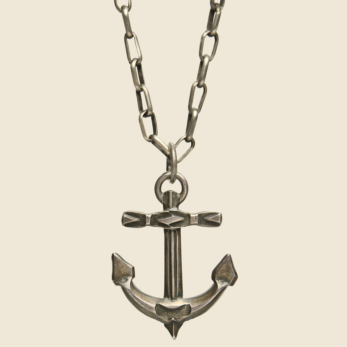 Smith Bros. Trading Co. Stamped Anchor Pendant - Sterling Silver