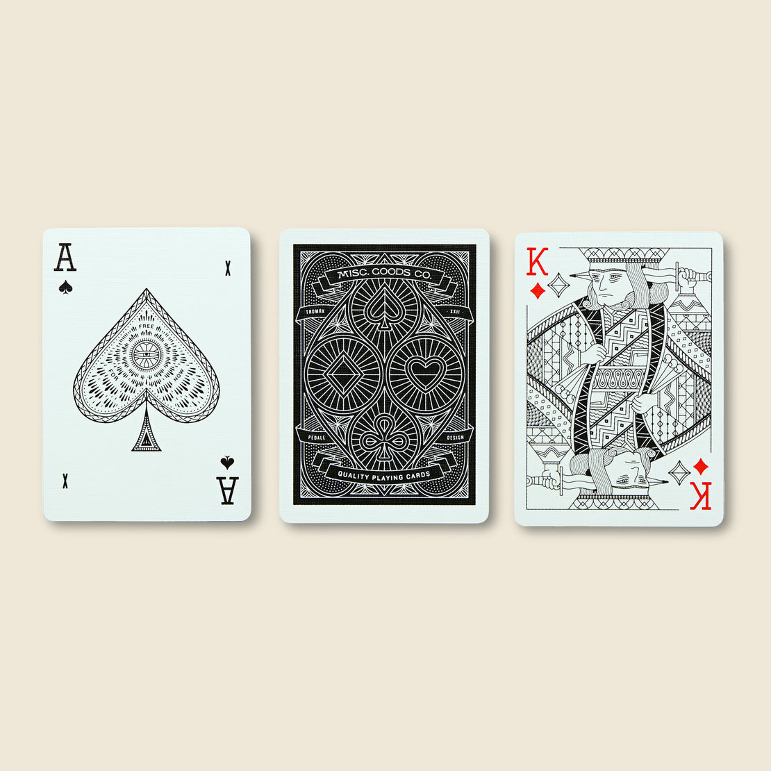 Playing Cards - Black - Misc Goods Co. - STAG Provisions - Gift - Games