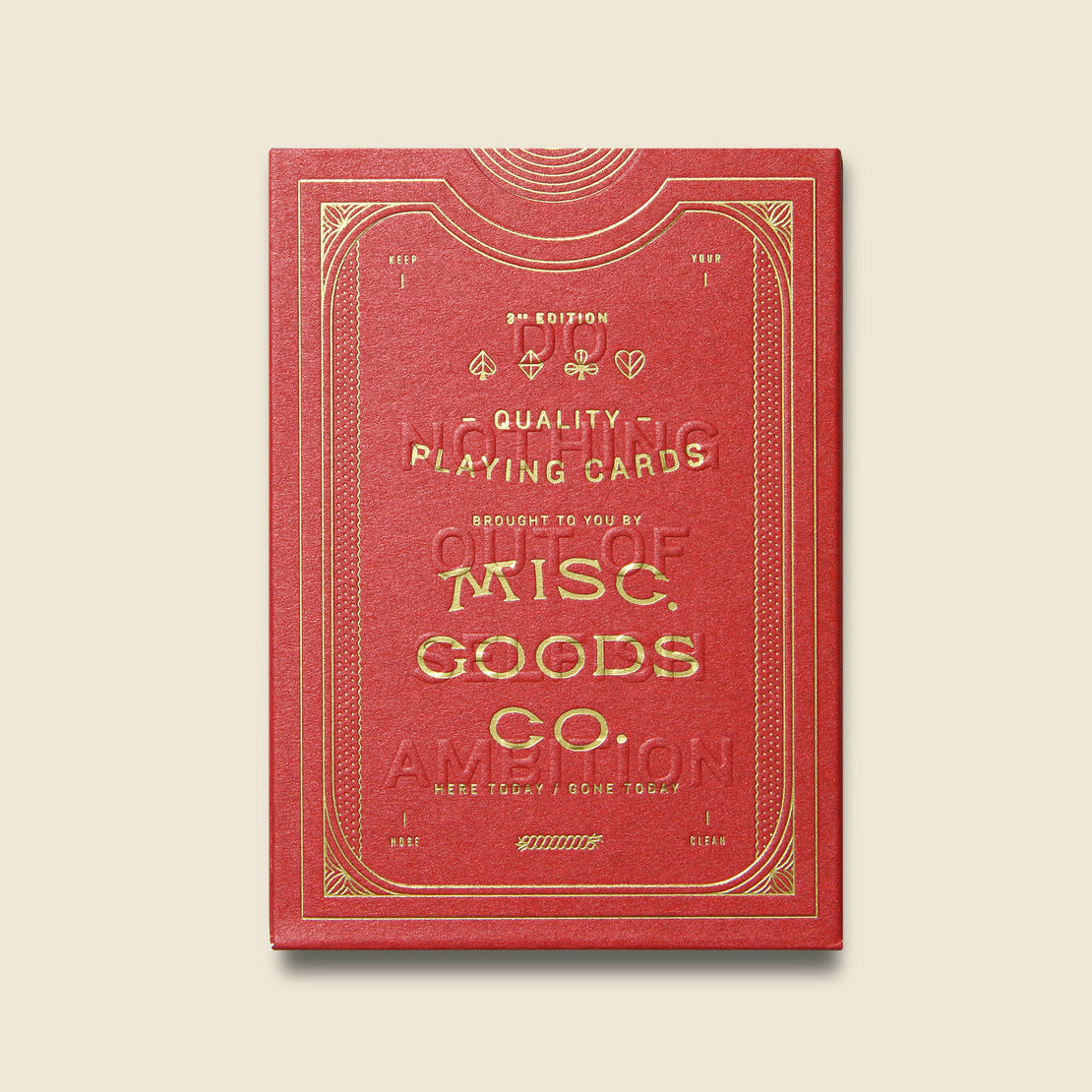 Misc Goods Co. Playing Cards - Red