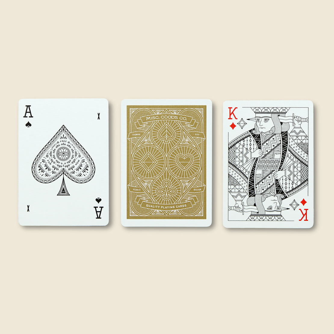 Playing Cards - Red - Misc Goods Co. - STAG Provisions - Gift - Miscellaneous