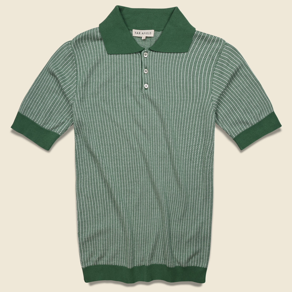 Far Afield Blakey Knit Polo - Green
