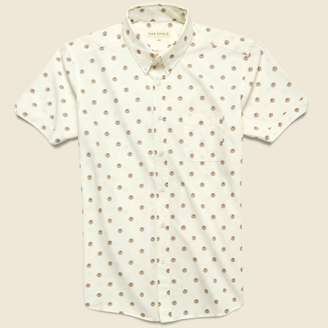 Far Afield Mod Button Down Shirt - Acid Smiles