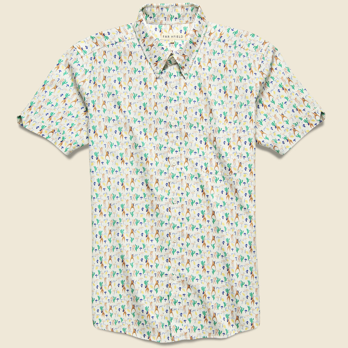 Far Afield Mod Button Down Shirt - Hippies