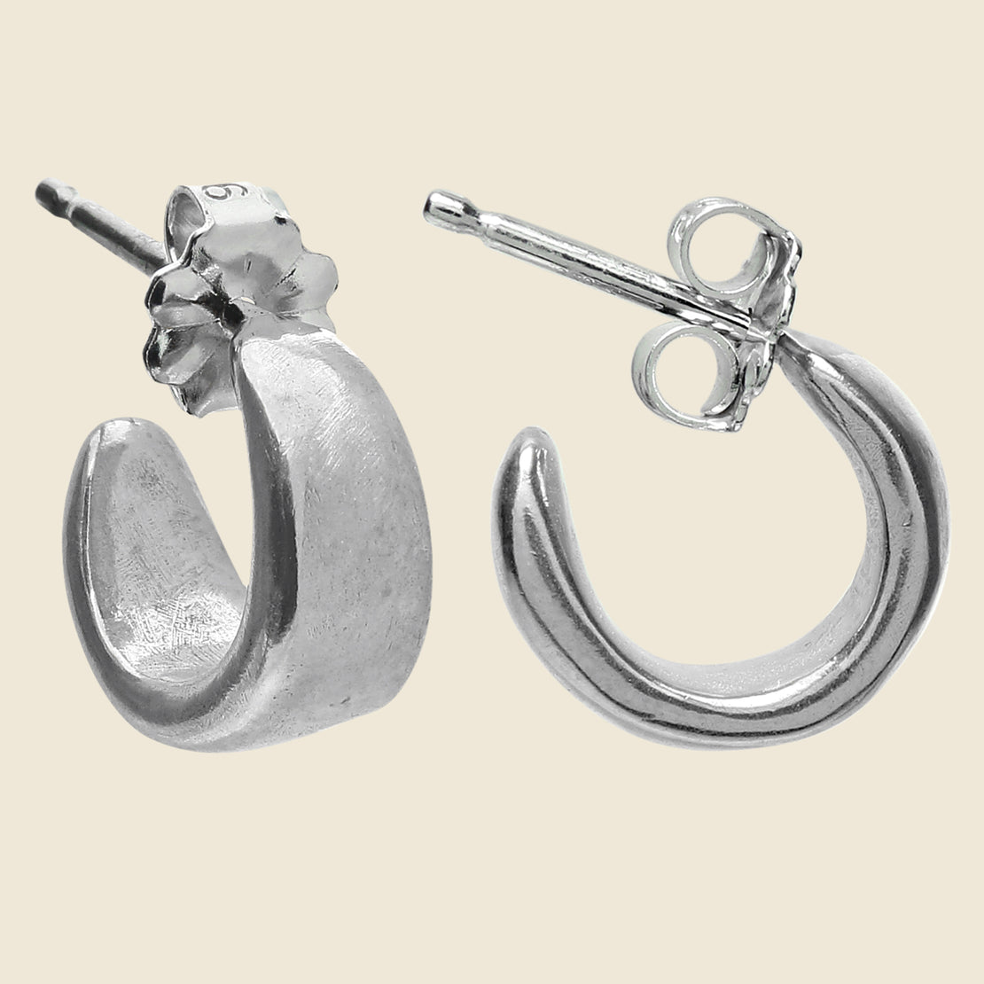 Cocoon Hoop Earrings - Silver