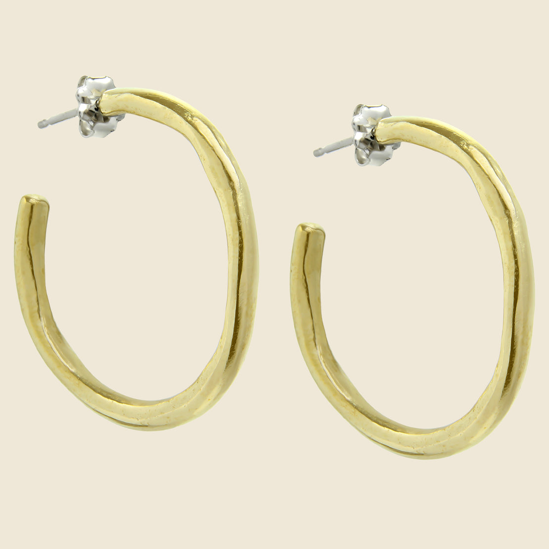 Amanda Hunt Arroyo Hoop Earrings - Bronze