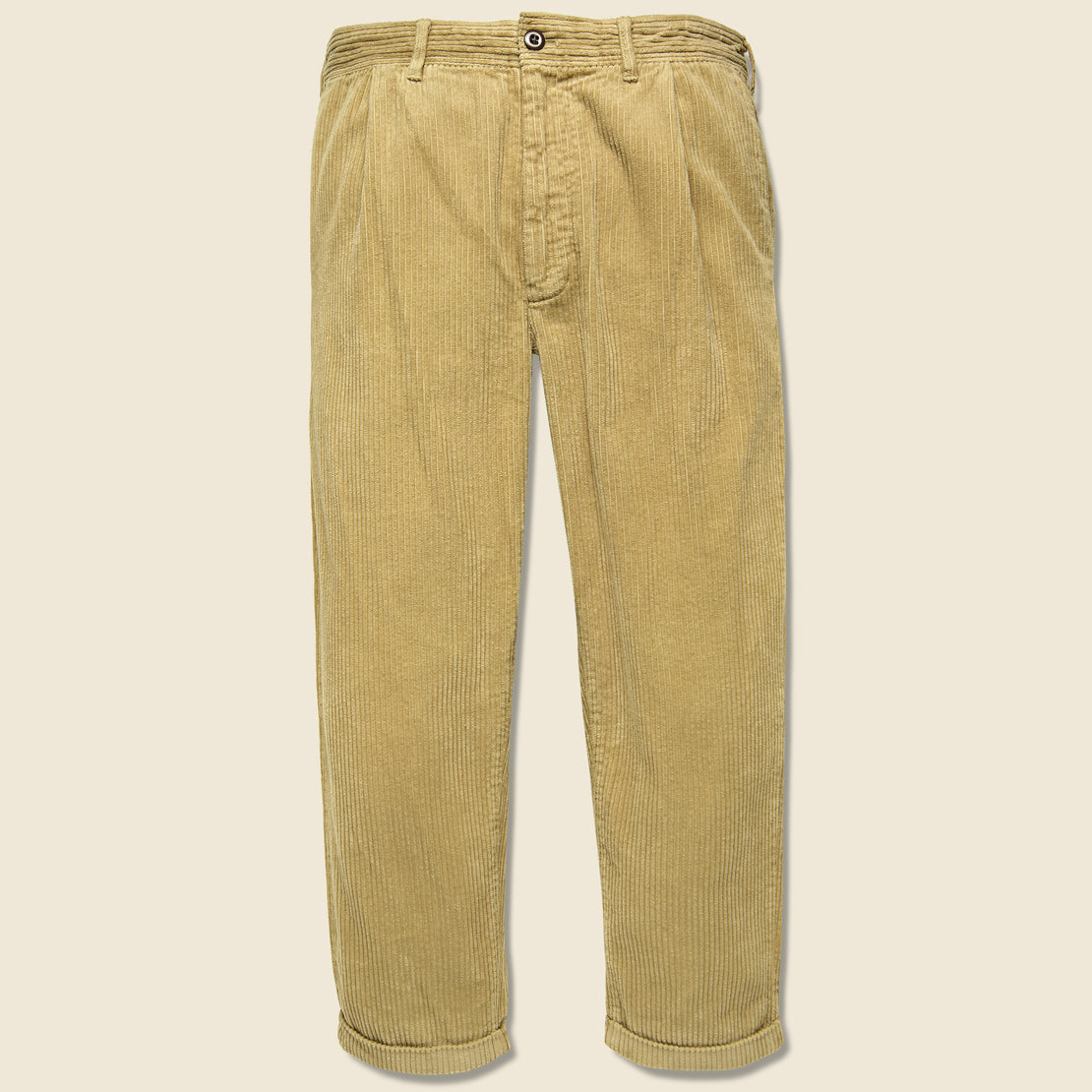 Alex Mill Corduroy Pleated Pant - Khaki
