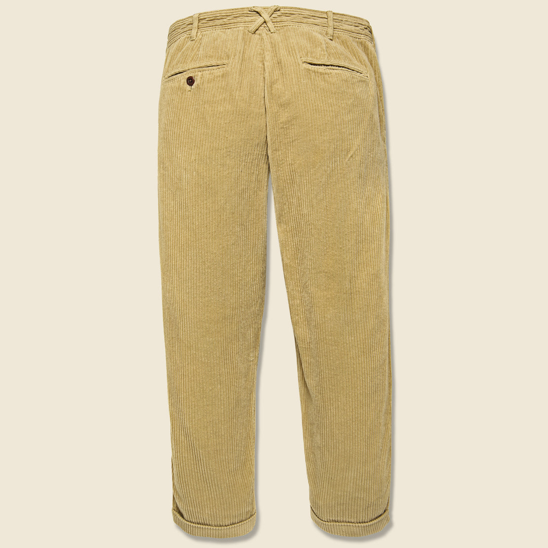 Corduroy Pleated Pant - Khaki