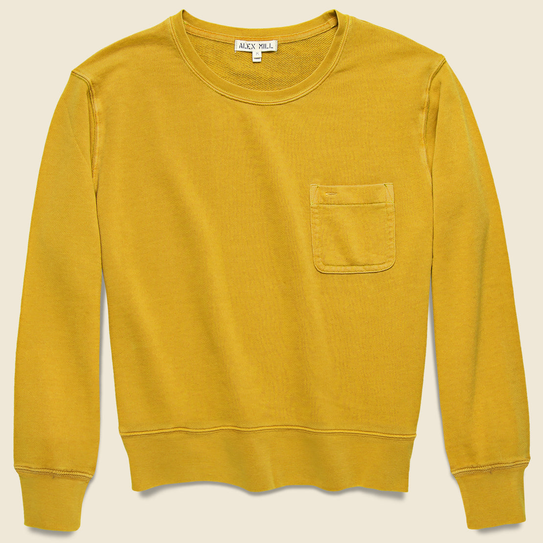 Alex Mill Fleece Pocket Sweatshirt - Honey Mustard