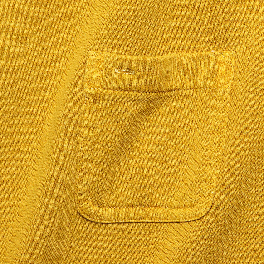 Fleece Pocket Sweatshirt - Honey Mustard