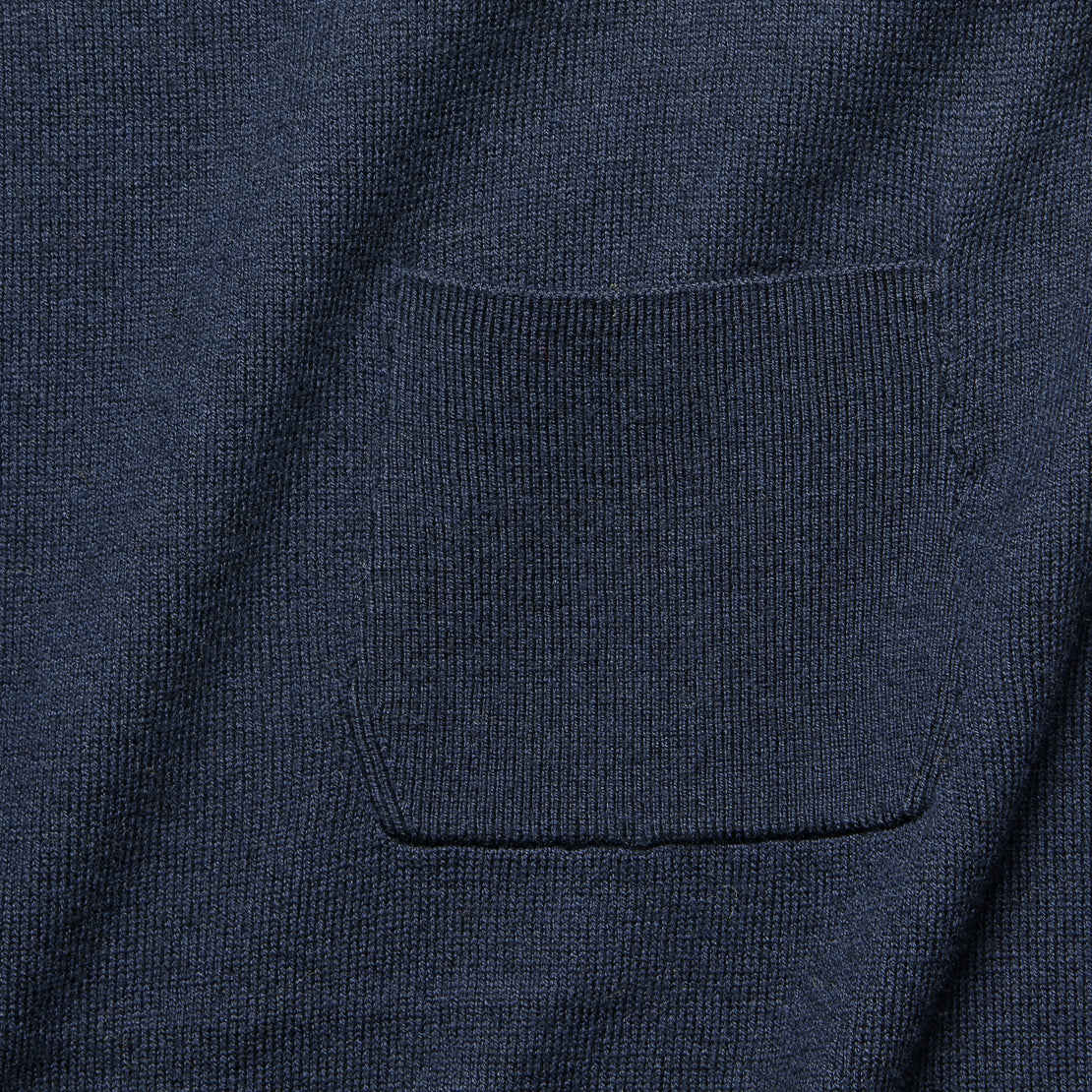 Cropped Pocket Sweater - Navy