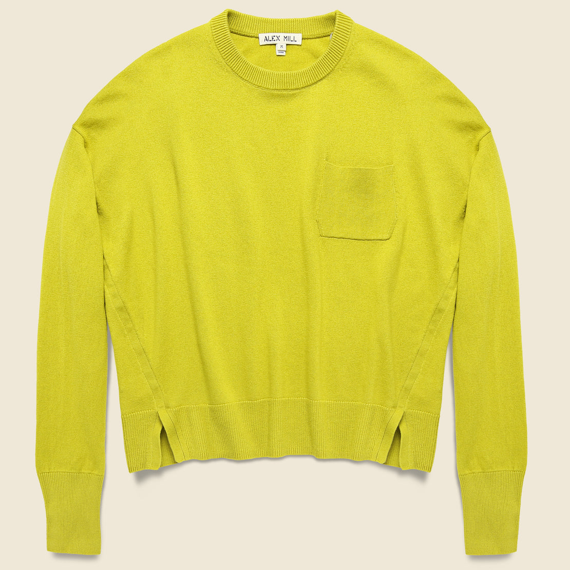 Alex Mill Cropped Pocket Sweater - Mustard