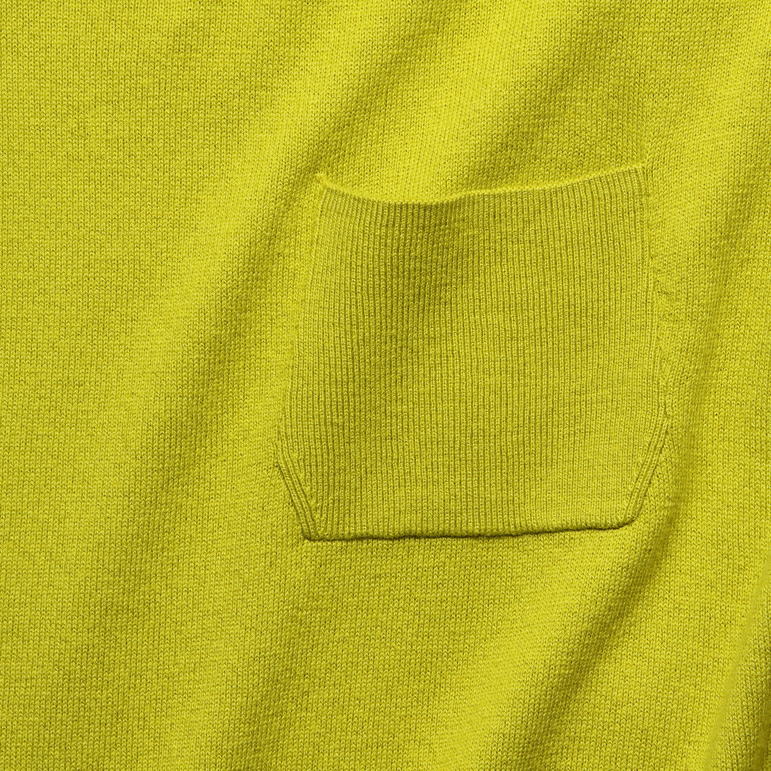 Cropped Pocket Sweater - Mustard