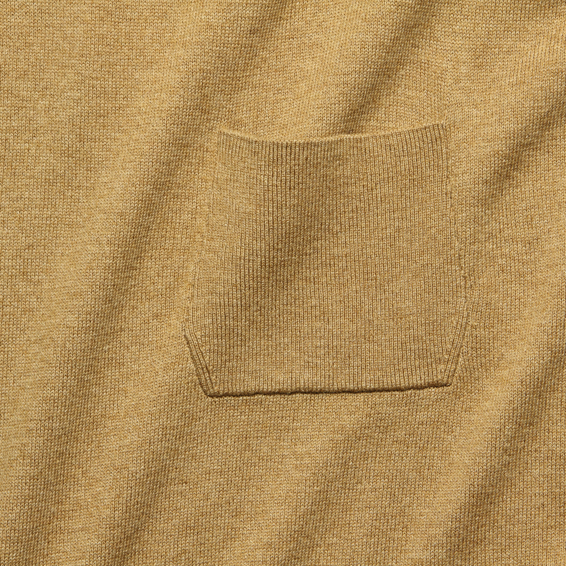 Cropped Pocket Sweater - Camel