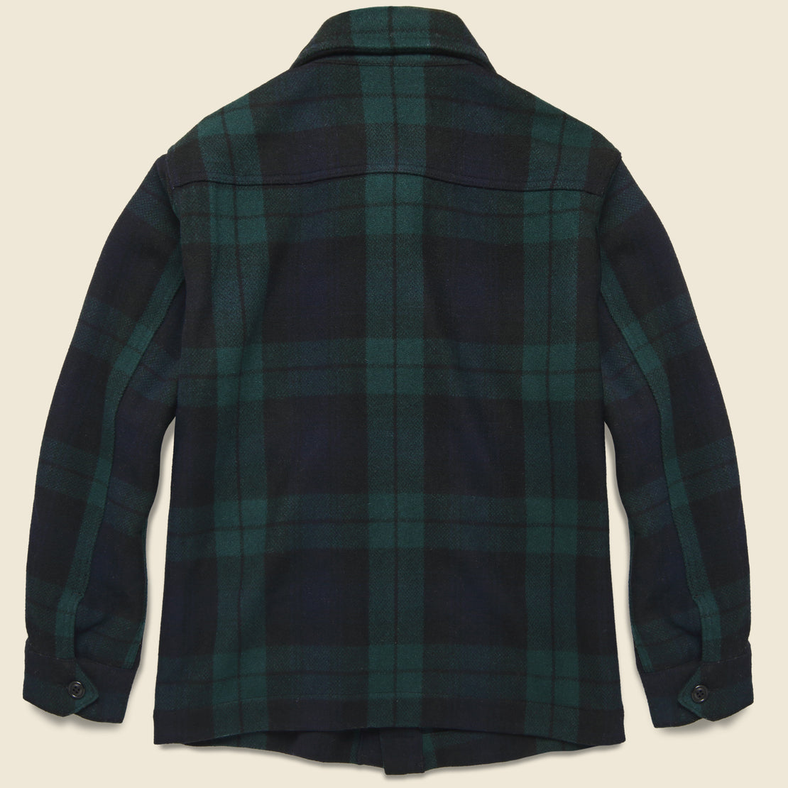 Blackwatch Wool Chore Jacket - Black/Green