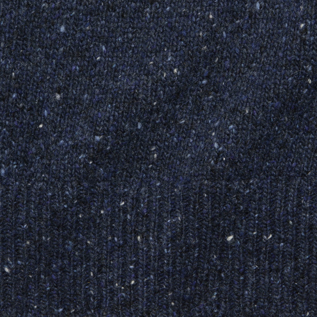 Donegal Wool Sweater - Navy