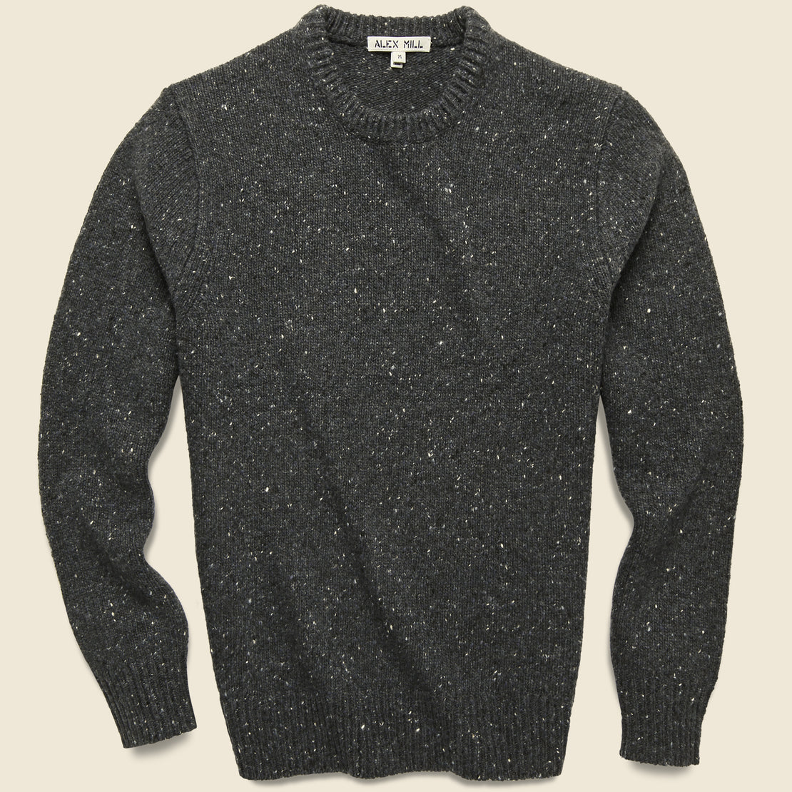 Alex Mill Donegal Wool Sweater - Charcoal