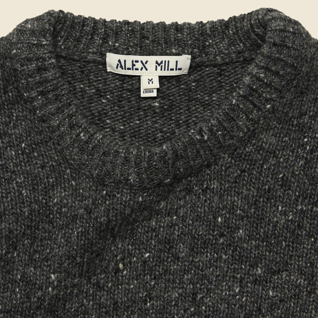 Donegal Wool Sweater - Charcoal