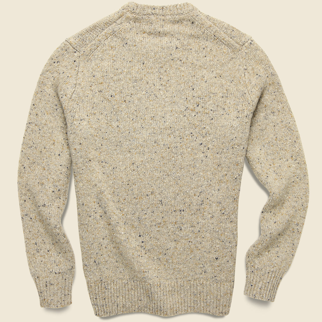 Donegal Wool Sweater - Oatmeal