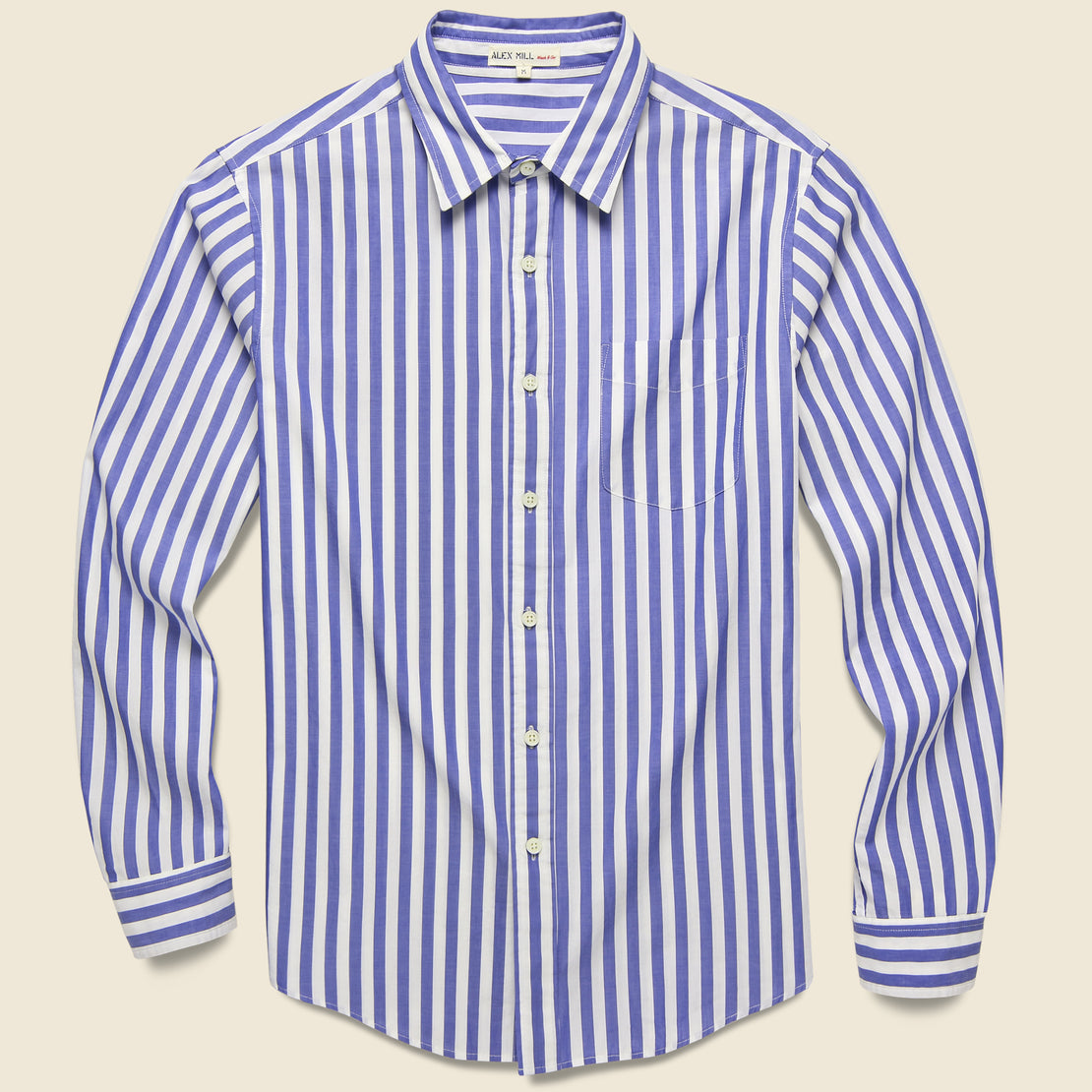 Alex Mill Bold Stripe Standard Shirt - Blue/White