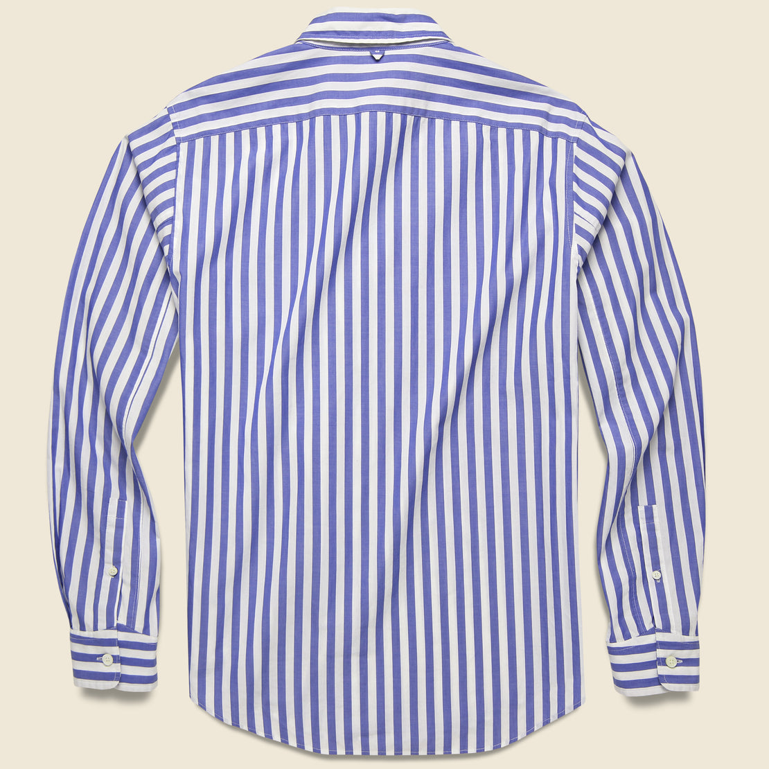 Bold Stripe Standard Shirt - Blue/White