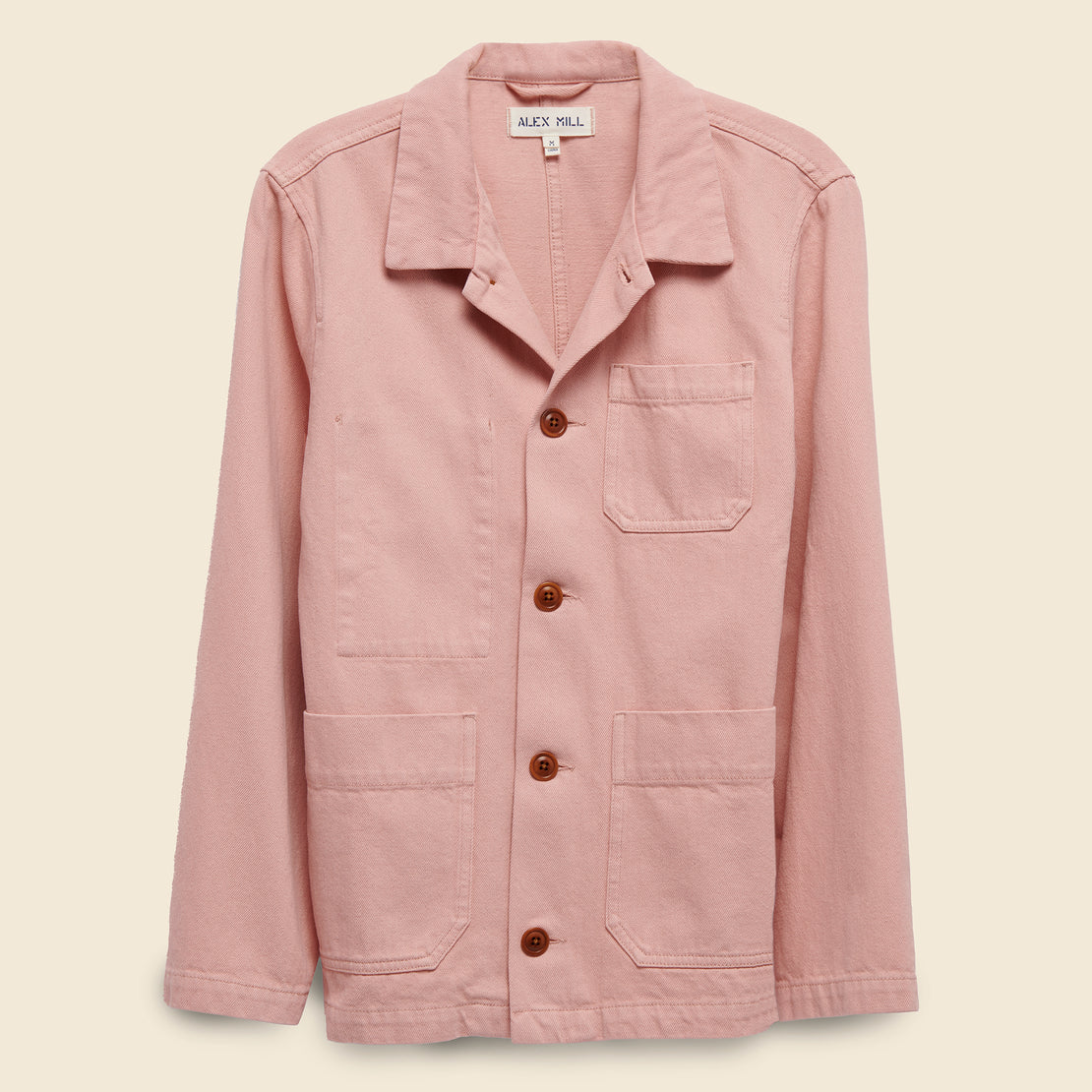 Alex Mill Recycled Denim Work Jacket - Minty Rose