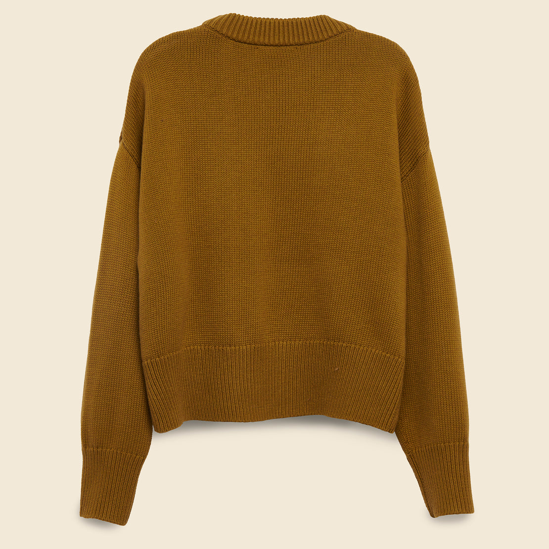 Cozy Crewneck Sweater - Mustard