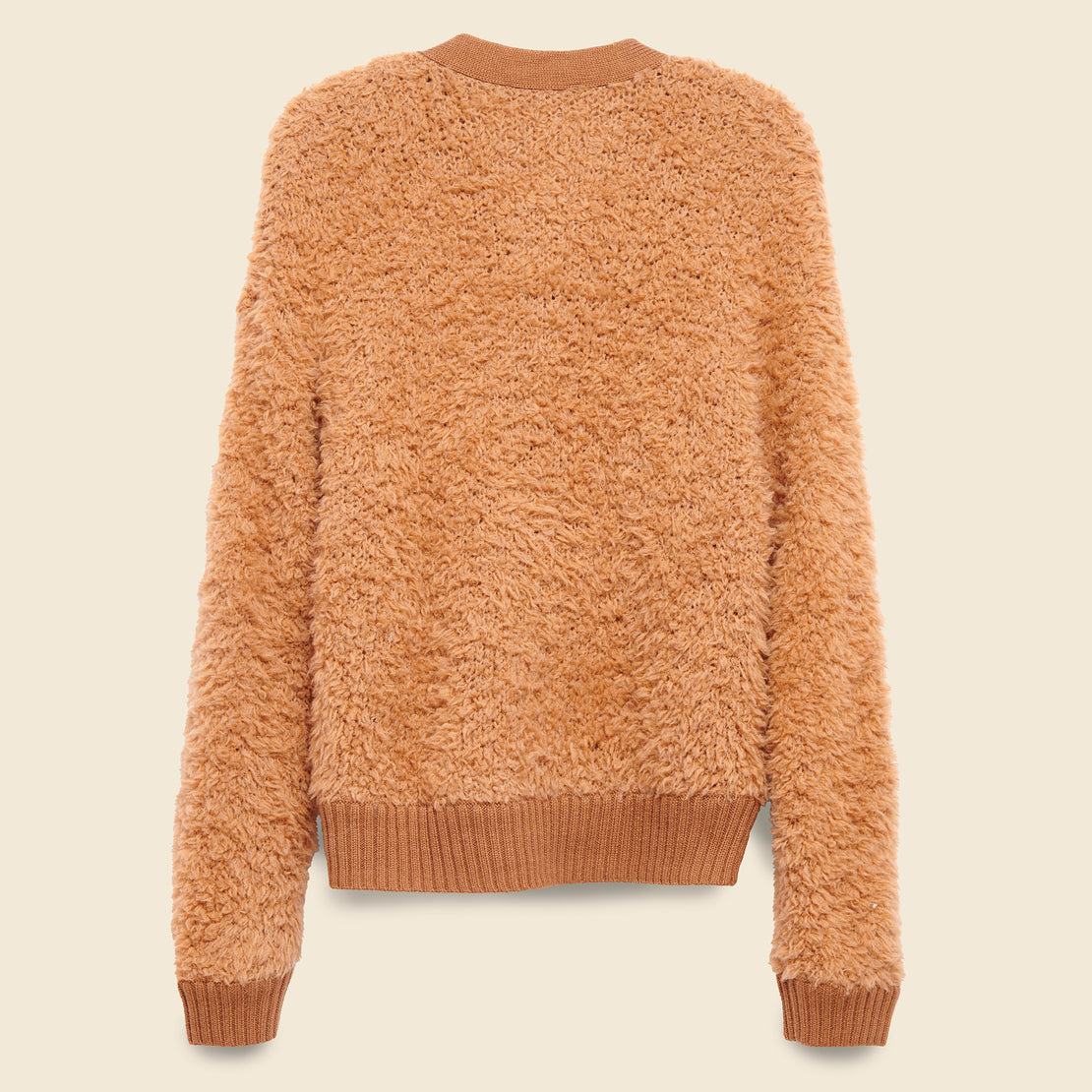 Wooly Cardigan - Terracotta