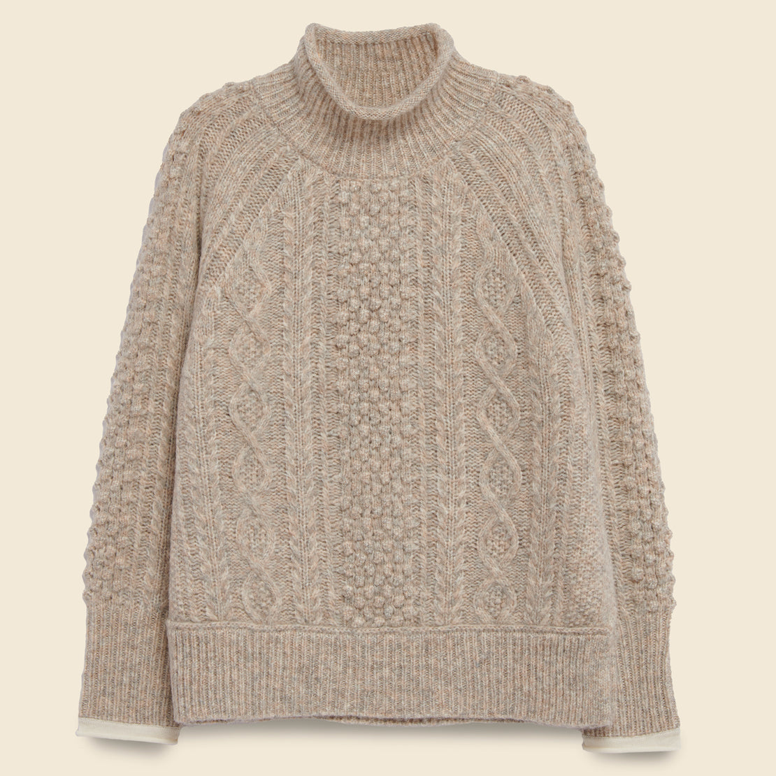 Alex Mill Kamil Cable Sweater - Driftwood