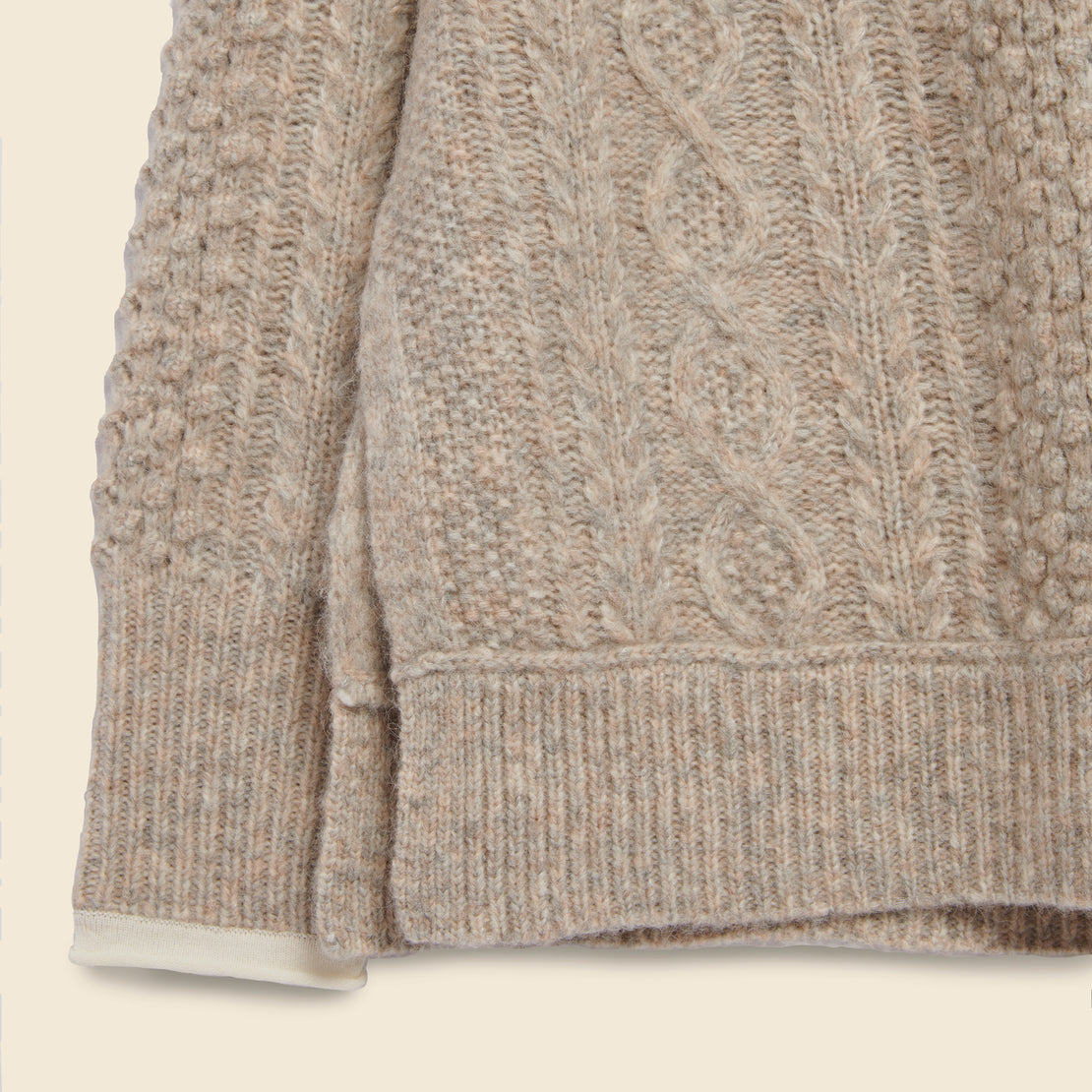 Kamil Cable Sweater - Driftwood