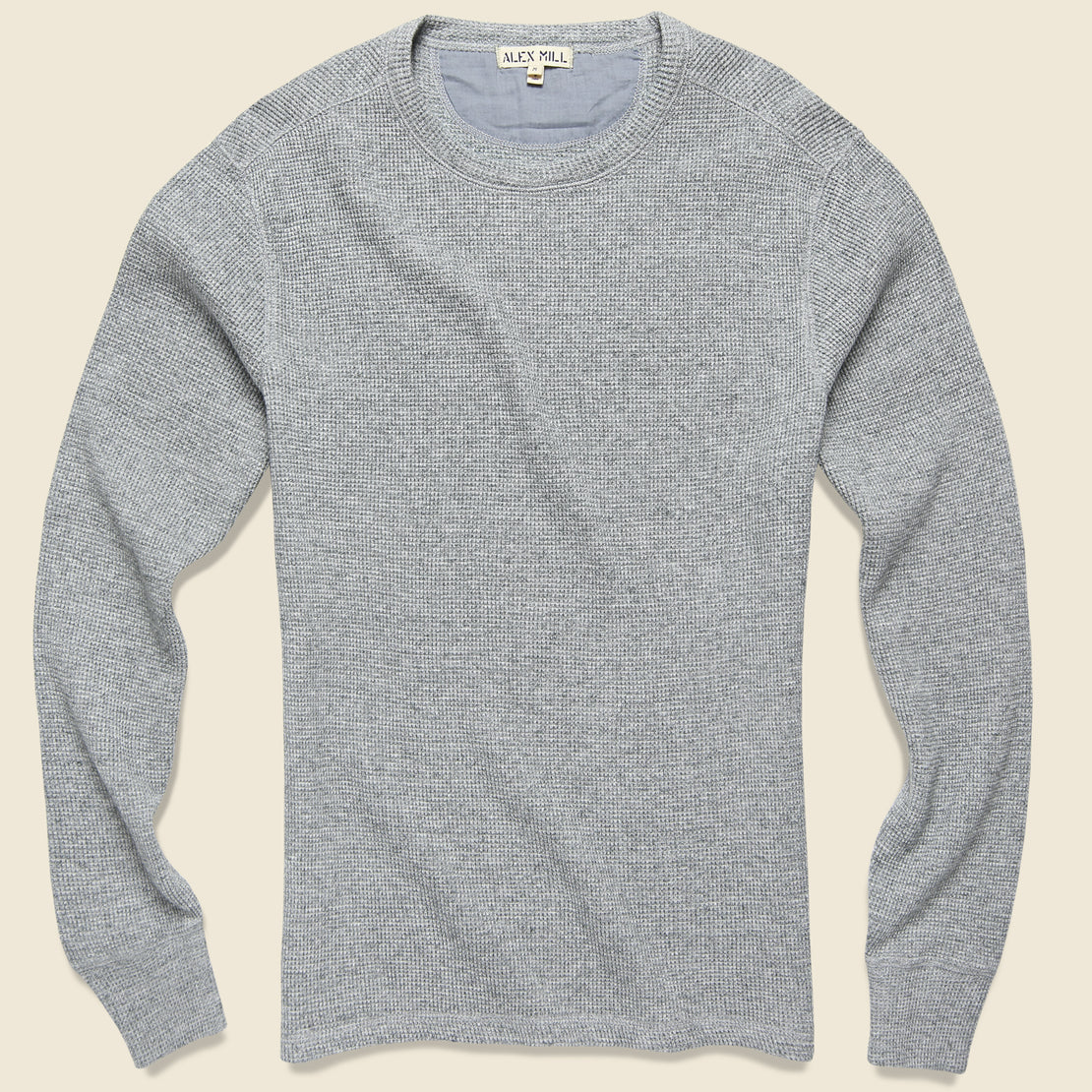 Alex Mill Waffle Crewneck - Heather Grey
