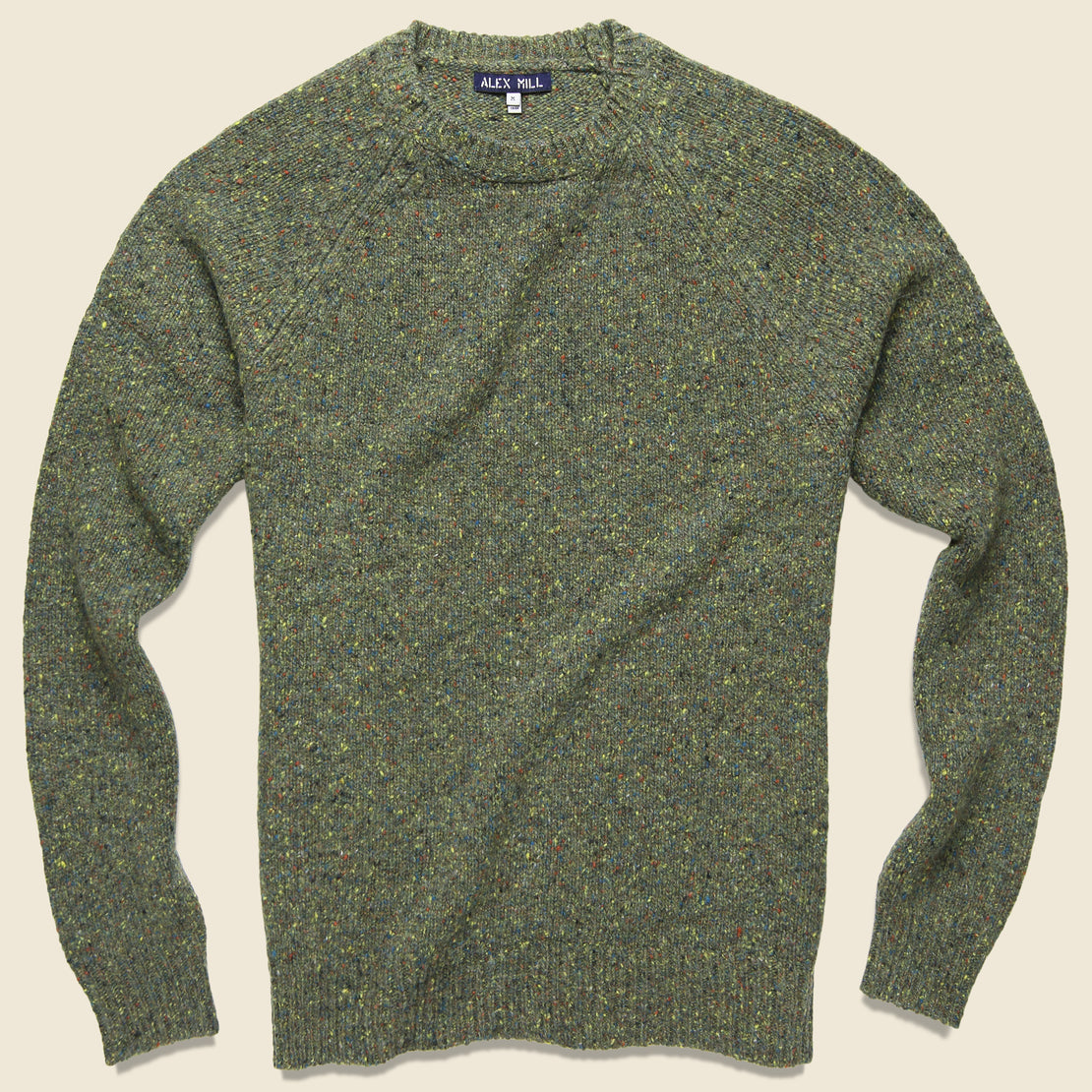 Alex Mill Alpaca Donegal Crew Sweater - Riverbank Green