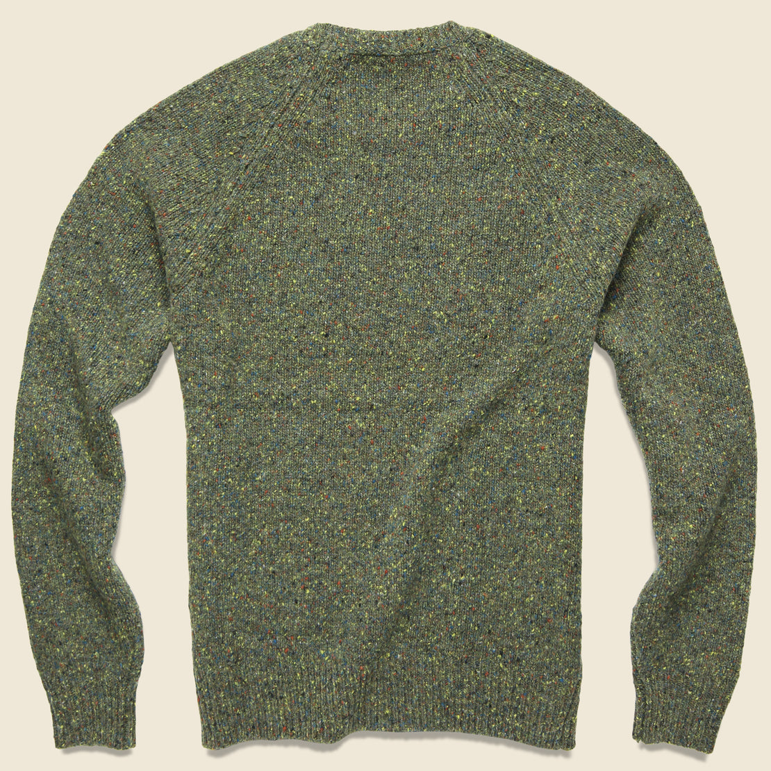 Alpaca Donegal Crew Sweater - Riverbank Green