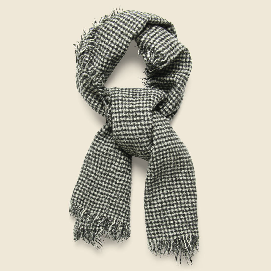 Alex Mill Boiled Wool Scarf - Black/White