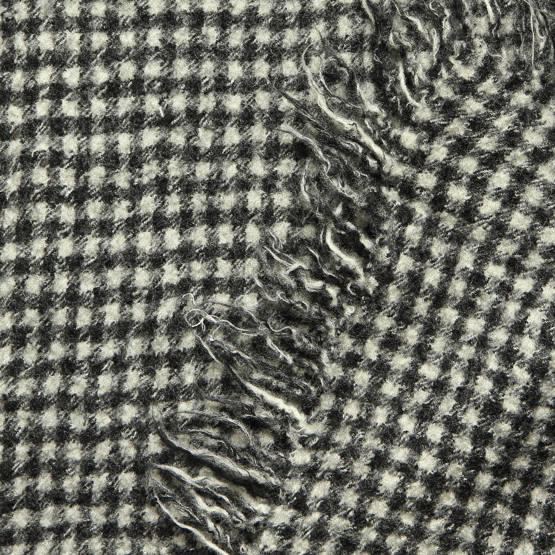 Boiled Wool Scarf - Black/White