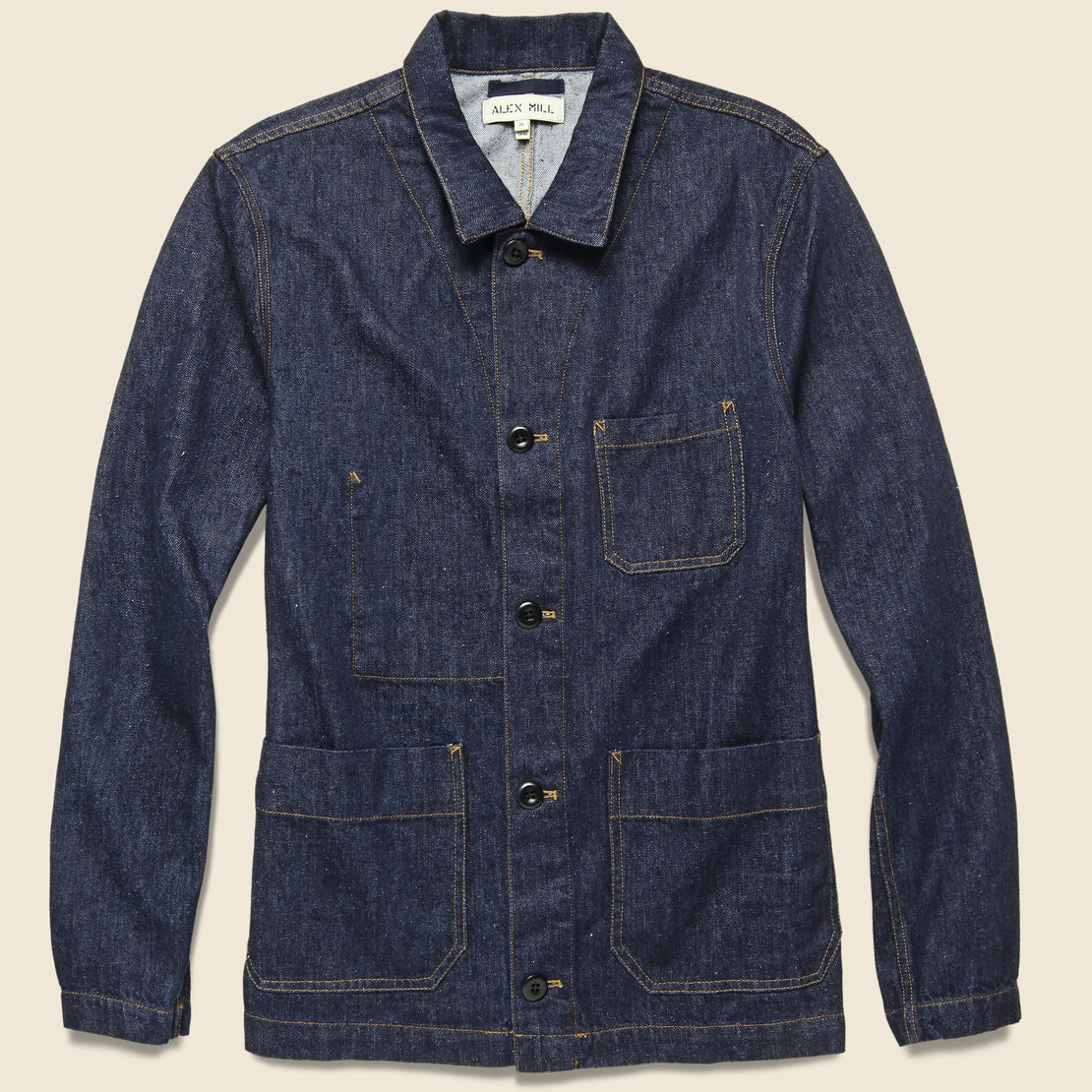 Alex Mill Nepped Denim Shirt Jacket - Rinse