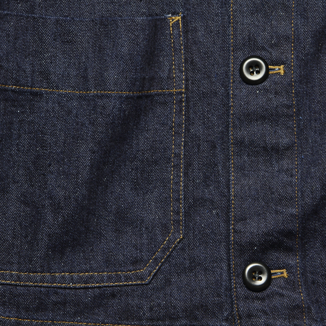 Nepped Denim Shirt Jacket - Rinse