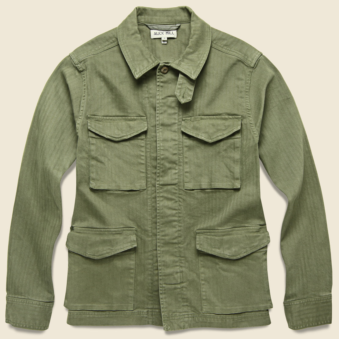 Alex Mill Herringbone Army Jacket - Olive