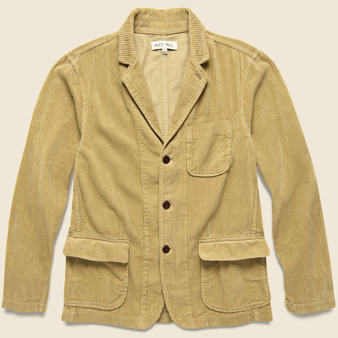 Alex Mill Rugged Cord Sack Jacket - Khaki