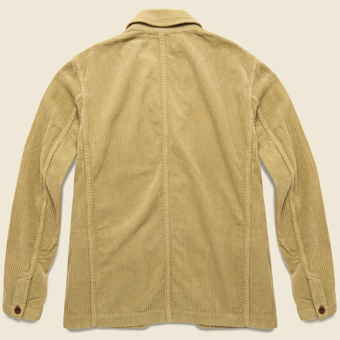 Rugged Cord Sack Jacket - Khaki