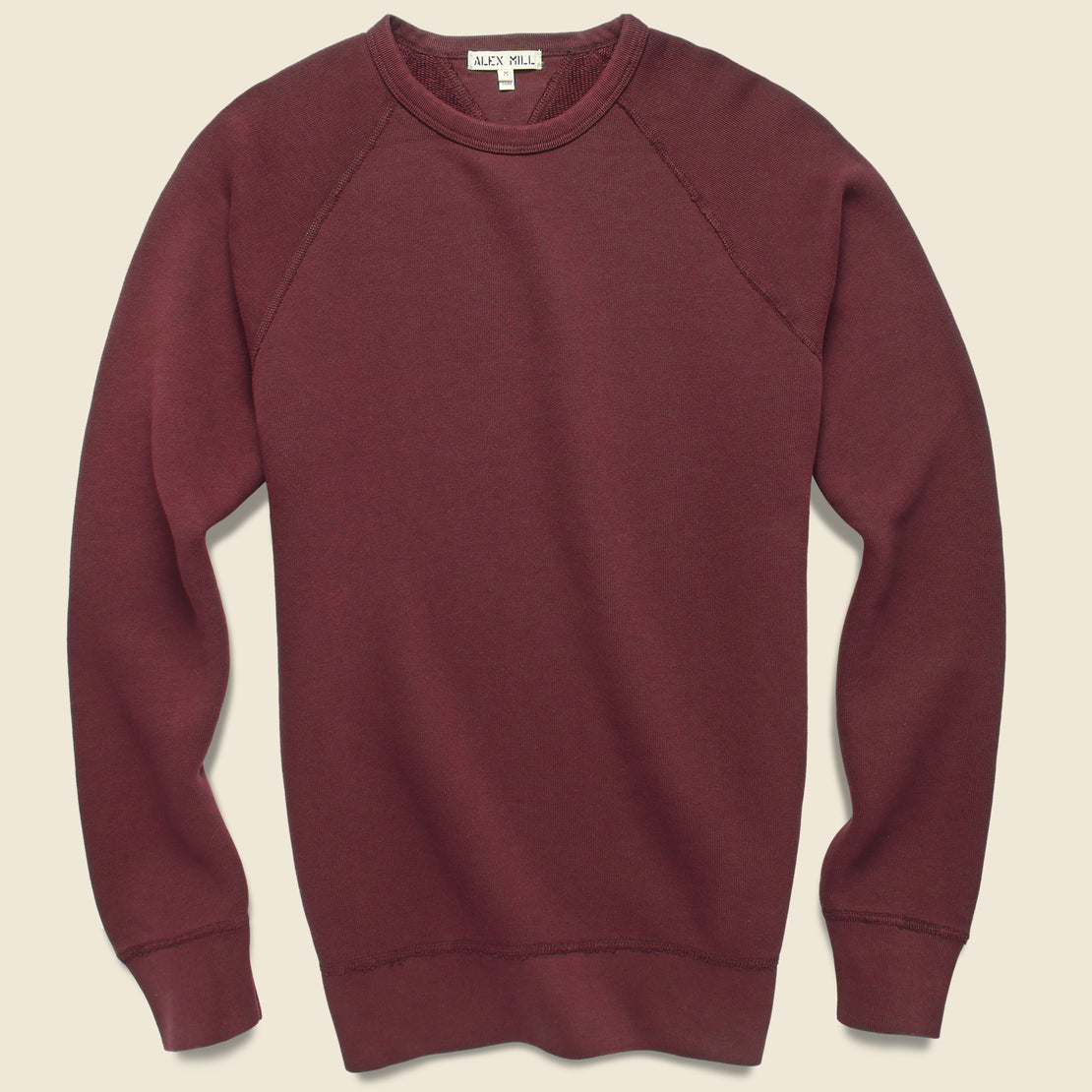 Alex Mill French Terry Sweatshirt - Bordeaux