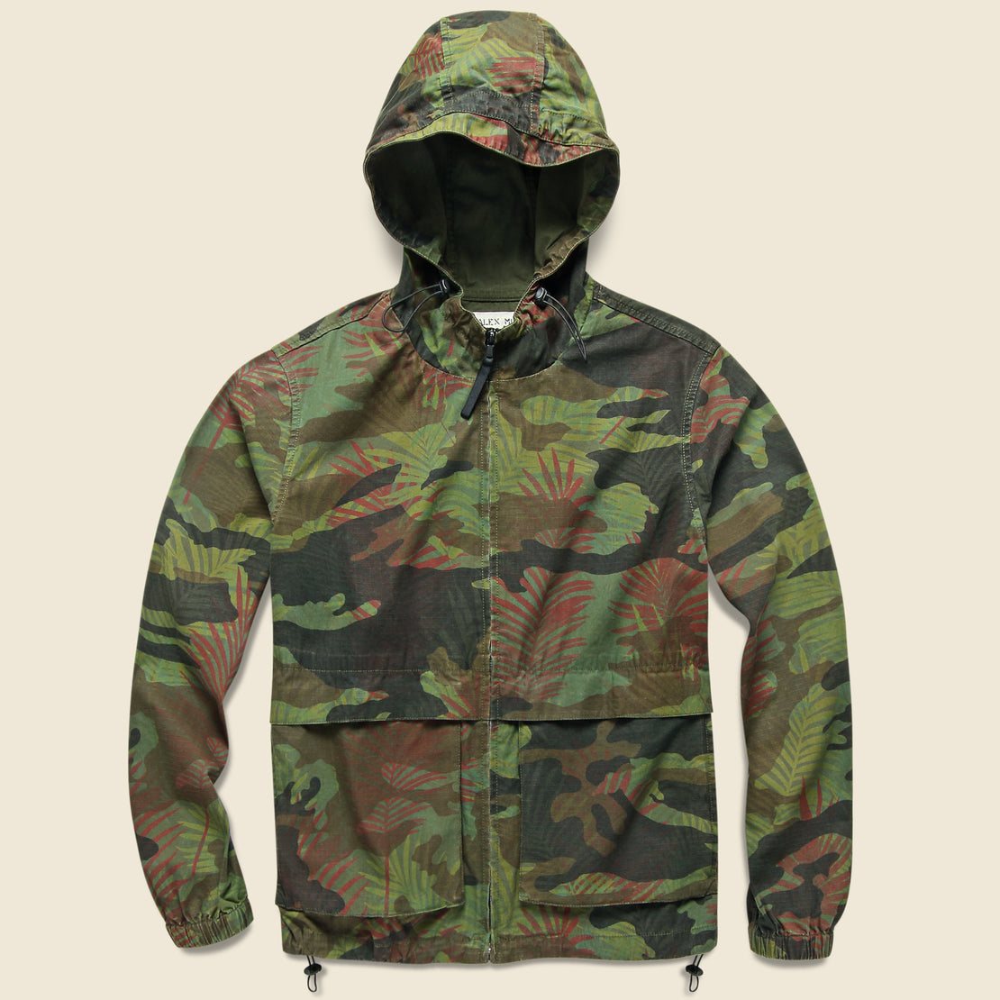 Alex Mill Hooded Jacket - Tropical Camo
