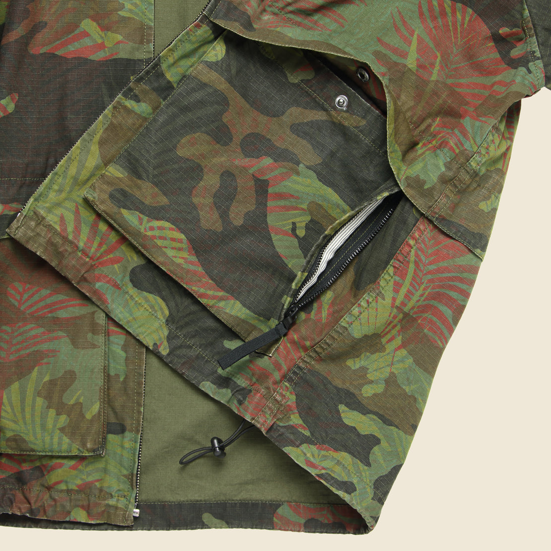 Hooded Jacket - Tropical Camo