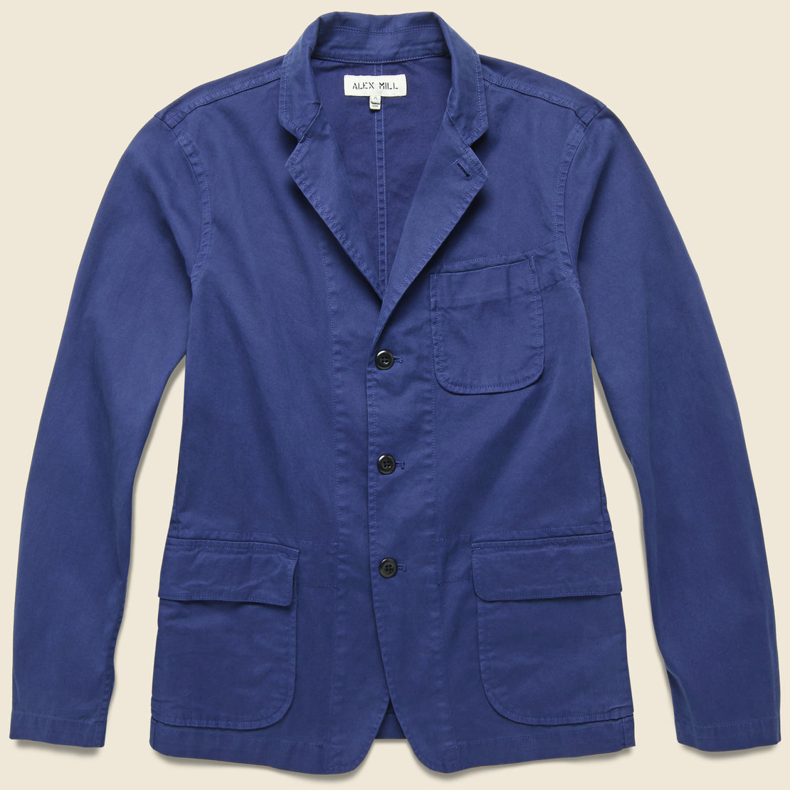 Alex Mill Twill Sack Jacket - Navy