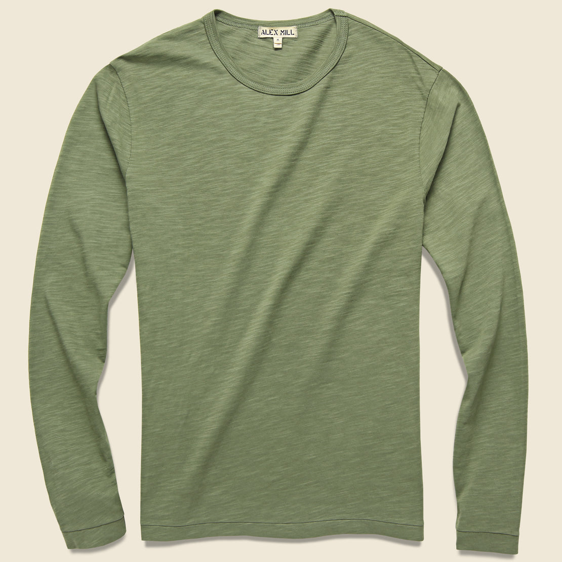 Alex Mill New Standard Slub Crew Tee - Military Green