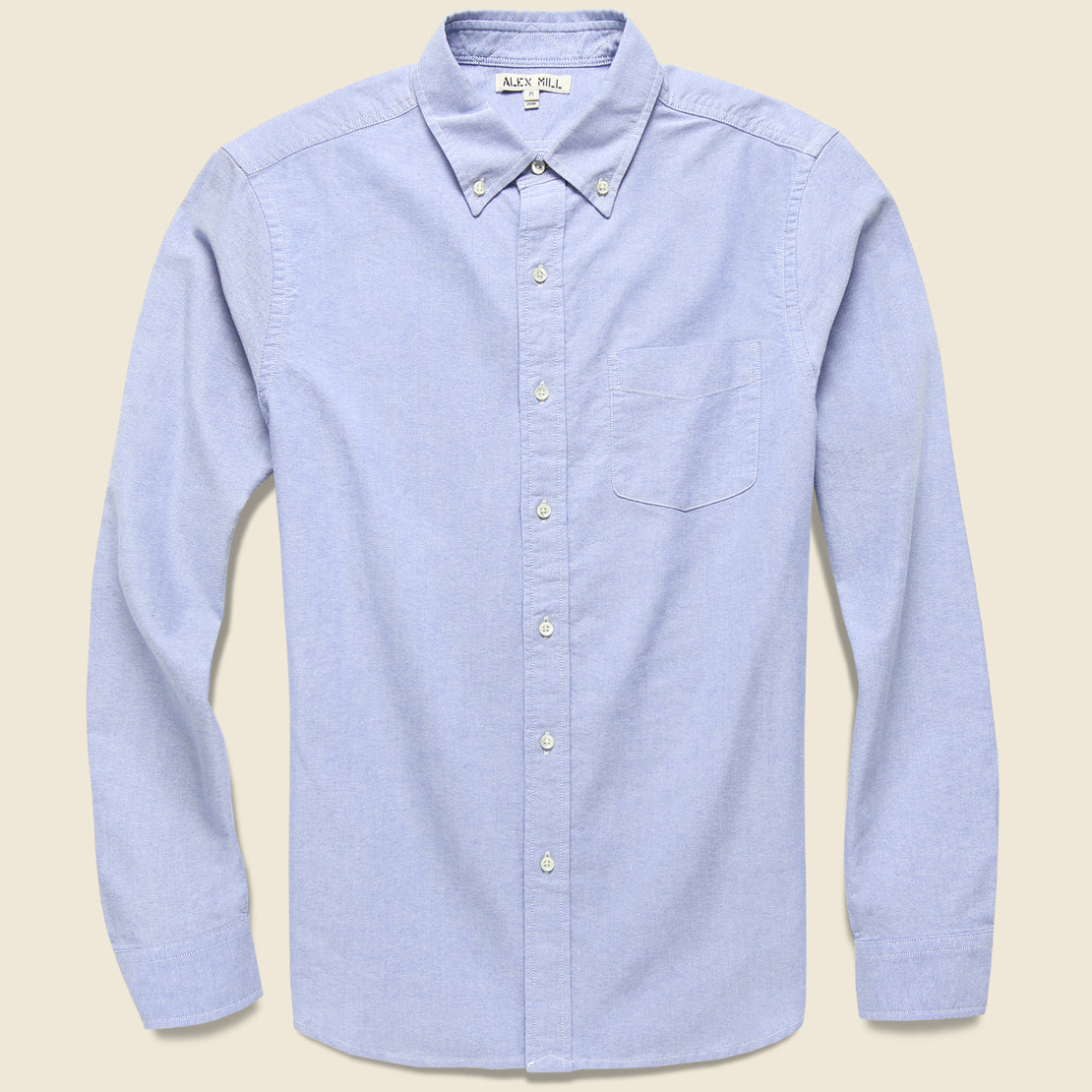 Alex Mill Overdyed Oxford Shirt - Blue