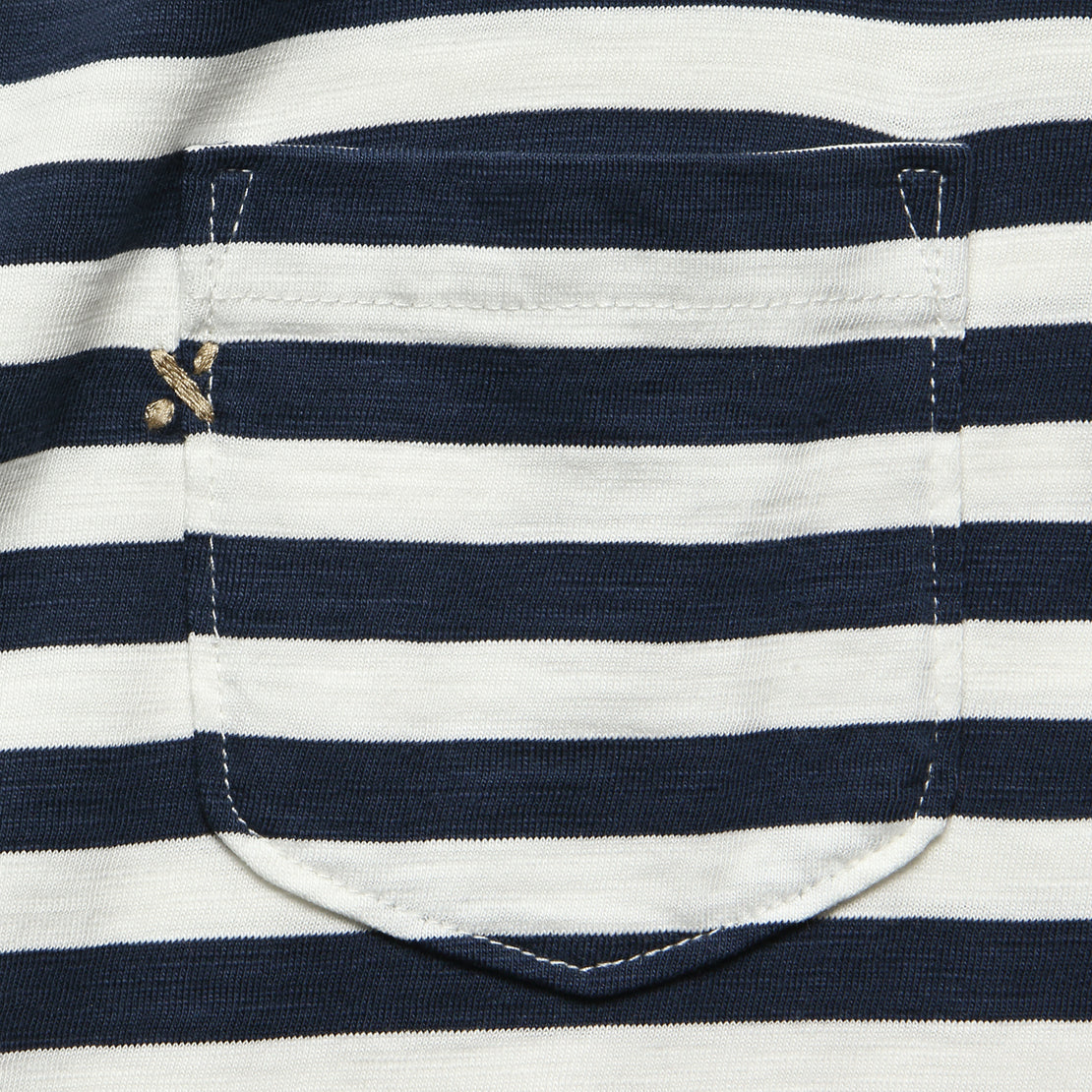 Even Stripe Tee - White/Navy