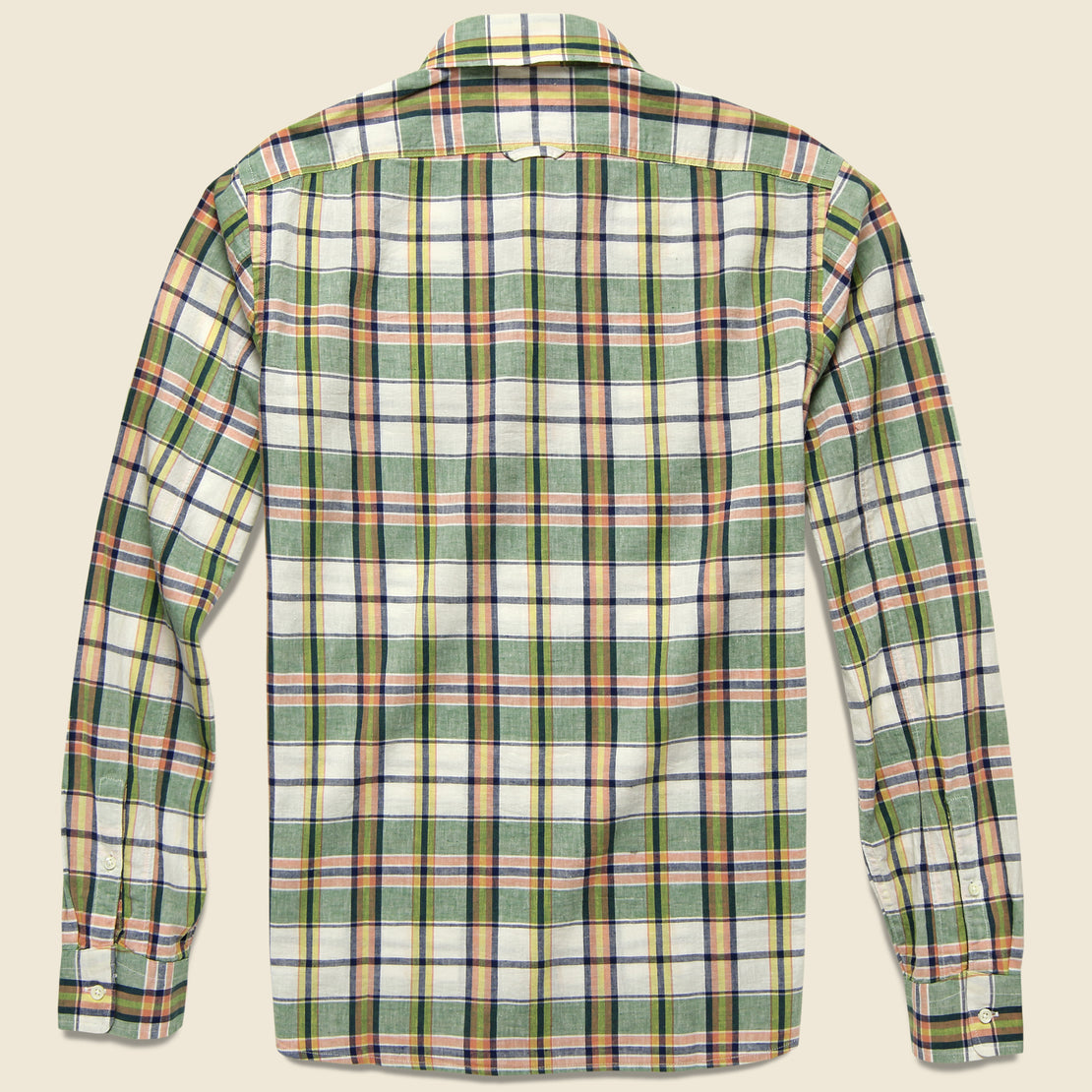 Spring Shirt - Green/Off-White