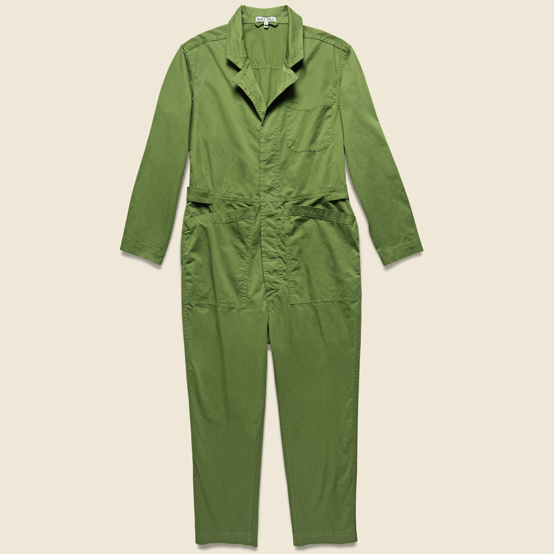 Alex Mill Cotton Jumpsuit - Army Green